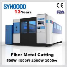 Máquina de corte do laser da fibra de Syngood SG1530 (1000w 1500 * 3000mm) Special para o corte do metal