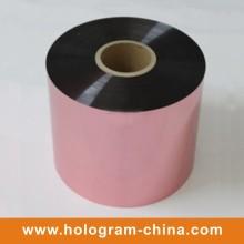 Impression de tamper en aluminium en relief Papier rose