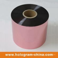 Aluminium-Manipulations-Beweis, der rosa Folie prägt