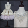 High Quality 2017 New Sleeveless Flower Girl Dress For Party Communion Dress Gown Kids Crystal Dress