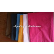 Tela blanca de la popelina de la tela de la tela del poliester el 35% poliéster el 35% algodón