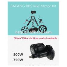 jogo do motor da bicicleta do bafang do jogo 48v 750W bbs02 do ebike do bafang com bateria
