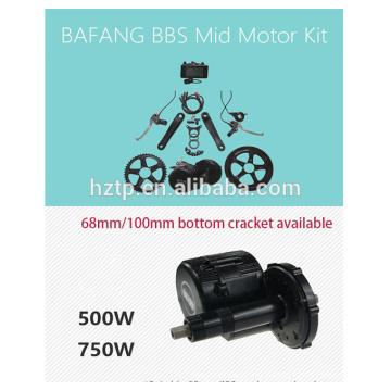 bafang ebike kit 48V 750W bbs02 bafang bicicleta motor kit con batería