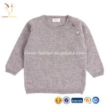 Suéteres de lana fina de cachemira Suéter de niños tejida a mano