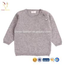Chandail de laine fine en cachemire à la main Chandail de bébé en tricot à la main