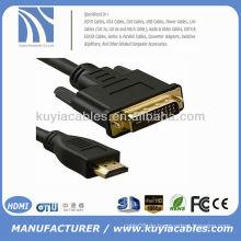 2M GOLD HDMI ZU DVI KABEL 1080p