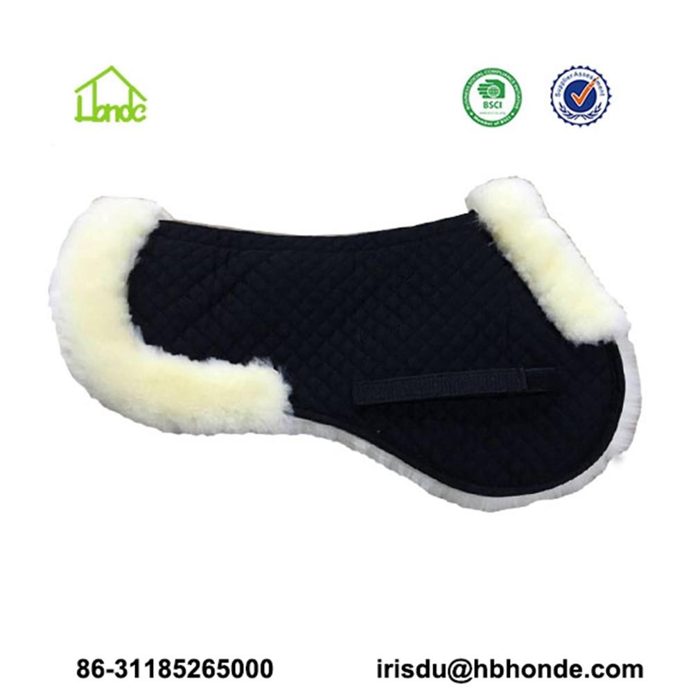 half sheepskin saddle pad