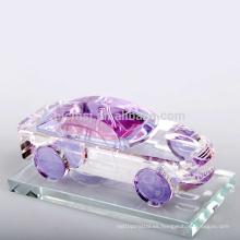 botella de vidrio rectangular botella de perfume cristalina 30ml con tapa de rosca dorada