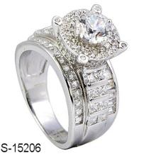 Neue Modeschmuck 925 Sterling Silber Ring mit Diamant