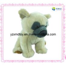 Cão branco brinquedo de pelúcia macio