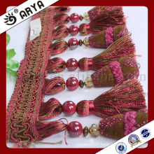 beautiful beads and tassel fringe for Curtain decoration and lamp decoration