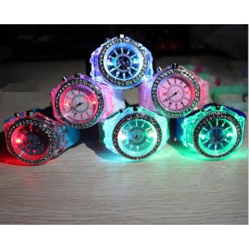 Yxl-704 ODM Light Color Silicone Watch Wristband Sport Silicone Ion Watch