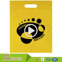 Schweres förderndes abbaubares Material-Logo, das kundenspezifische PlastikPolythene-Einkaufstaschen mit Griff druckt