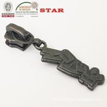black free custom zipper pulls  for 3# metal zipper open end plating