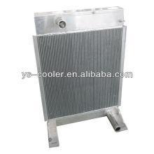 Technik platte fin aluminium wärmetauscher für bau fahrzeug / geripptrohr wärmetauscher / bauteile teile