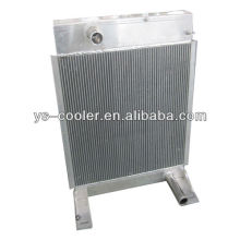 Intercambiador de calor de aluminio de la aleta de la placa de la ingeniería para la construcción vehículo / tubo de aleta intercambio de calor / piezas del equipo de construcción