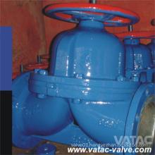 Cast Steel Wcb/Lcb/Ss304/Ss316 RF Weir Diaphragm Valve