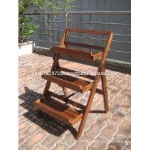 Massivholz Outdoor / Garten Möbel Set - Blumentopf