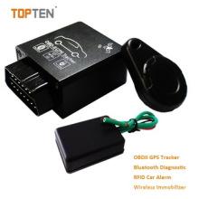 GPS OBD Tracker con administración de asistencia 2.4G, interfaz Obdii para leer datos del automóvil Tk228-Ez