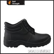 Einteilige schwarz PVC Sicherheit Regen Stiefelette (SN5130)