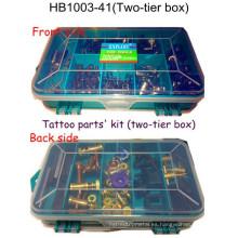 Venta caliente calidad tatuaje pistola pieza kit Hb1003-40