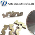 W Shape Abrasive Cutting Tools Diamond Segment for Granite Slab