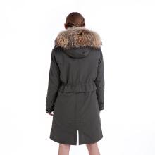 Casaco de pele casaco de pele parka