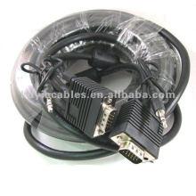 Cable de monitor SVGA de 50 pies con audio de 3,5 mm
