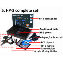 Puissance de l'ouragan HP-3 Noir Dual Digital LCD Tattoo Power Supply, DIGITAL Hurricane TATTOO POWER SUPPLY