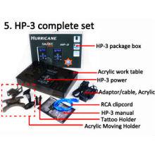Hurricane Power HP-3 Preto Dual Digital LCD Tattoo Fonte de Alimentação, DIGITAL Hurricane TATTOO POWER SUPPLY