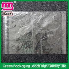 saco de embalagem plástico resealable claro para a roupa
