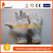Guantes de algodón hechos punto cadena de Ddsefety con En388, CE (DCK701)