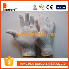 Gants de coton tricotés avec des cordes Ddsefety avec En388, CE (DCK701)