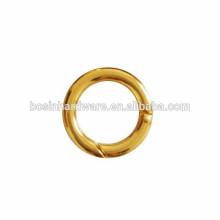 Fabricação Round Ring Metal Spring Ring Gold Clor