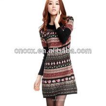 12STC0693 Dame Kleid Mode lässig gestrickte Pullover