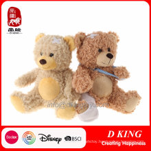 Brown Patch Plush Soft Teddy Bear Kids Toys