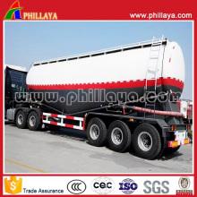 Remorque matérielle de ciment de bulker de camion-citerne de réservoir de réservoir de la poudre 50cbm