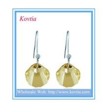 HOT VENDA alibaba jóias de cristal quartzo jóias shell forma brinco pingente de prata
