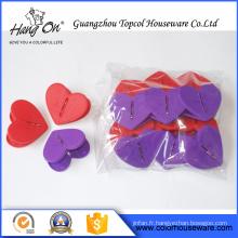 Clip en plastique en forme de coeur