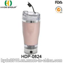 450ml Popular Portable Plastic Vortex Stirring Cup, Customized Plastic Electric Shaker Protein Bottle (HDP-0824)