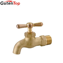 LB Guten top Chrome Plating Cast Brass Bibcock with T-handle water tap supplier