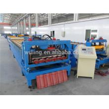 Gewölbte verglaste Stufenziegel Dachrollenformmaschine