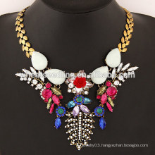 2015 Stone flower temperament alloy statement necklace