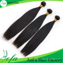 Сотка Выдвижение Человеческих Волос Прямо Девственные Волосы
