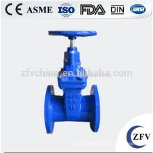 ZFV GVCI50-300 4 pulgadas goma sello válvula de compuerta con bridas de hierro fundido