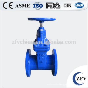 ZFV GVCI50-300 4 inch rubber seal flanged cast iron gate valve