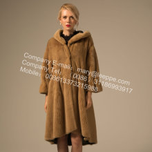 Lady Overcoat Cross Mink Overcoat