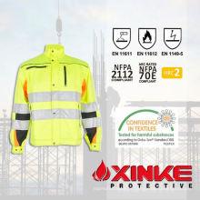Revestimento FR anti-estático personalizado para uniforme de bombeiro