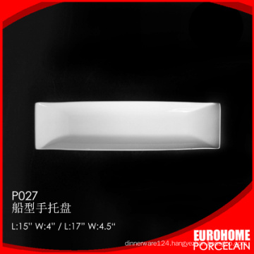 wholesale dinner ceramic porcelain rectangular plate