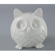 Cute Owl Shape Ceramic Customized Coin Bank